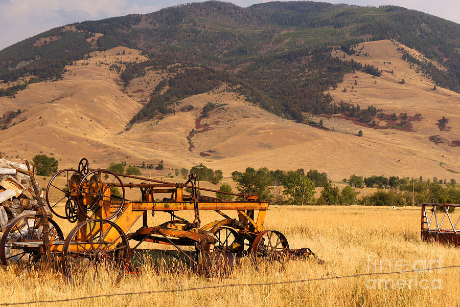 Machine Photograph - Old Road Grader by Rick Mann