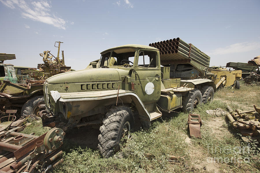 Kunduz Photograph - Old Russian Bm-21 Launch Vehicle by Terry Moore