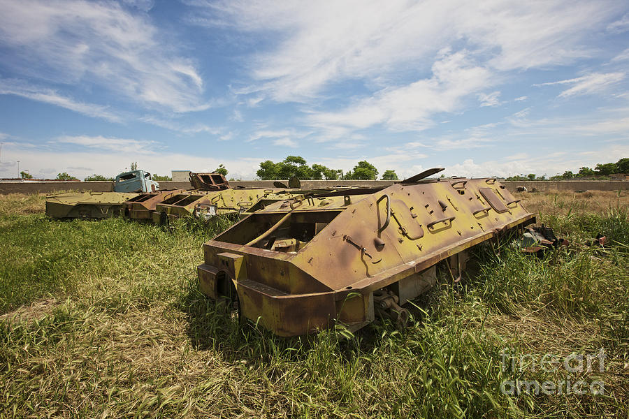 Armor Photograph - Old Russian Btr-60 Armored Personnel by Terry Moore