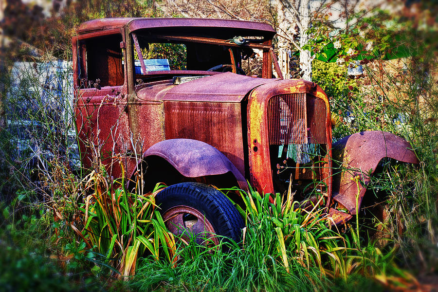 Truck Photograph - Old Rusting Truck by Garry Gay