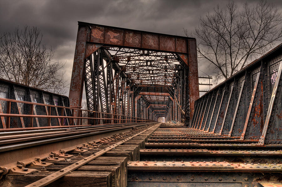 Landscape Photograph - Old Rusty Bridge by Darren Landis