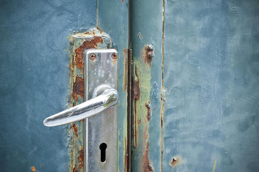 Old Rusty Door Handle Photograph by Maratsavalai Lertsirivilai