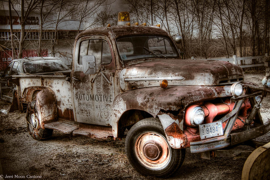 Truck Photograph - Old Rusty by Jerri Moon Cantone