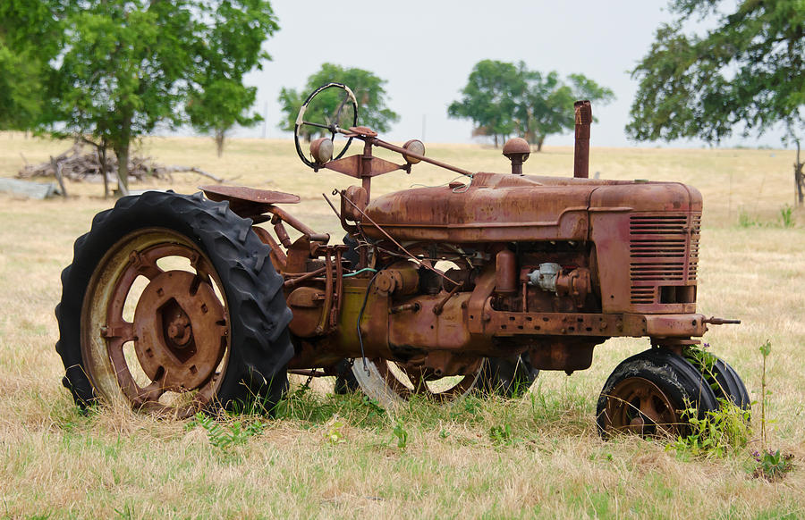 Oldest Antique Tractors : Old rusty tractor photograph by lisa moore