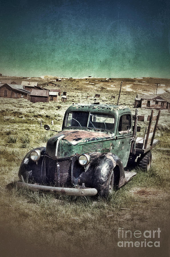 Truck Photograph - Old Rusty Truck by Jill Battaglia