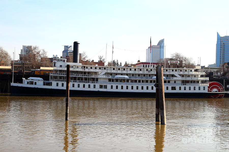 Old Sacramento California Delta King Hotel Paddle Wheel Steam