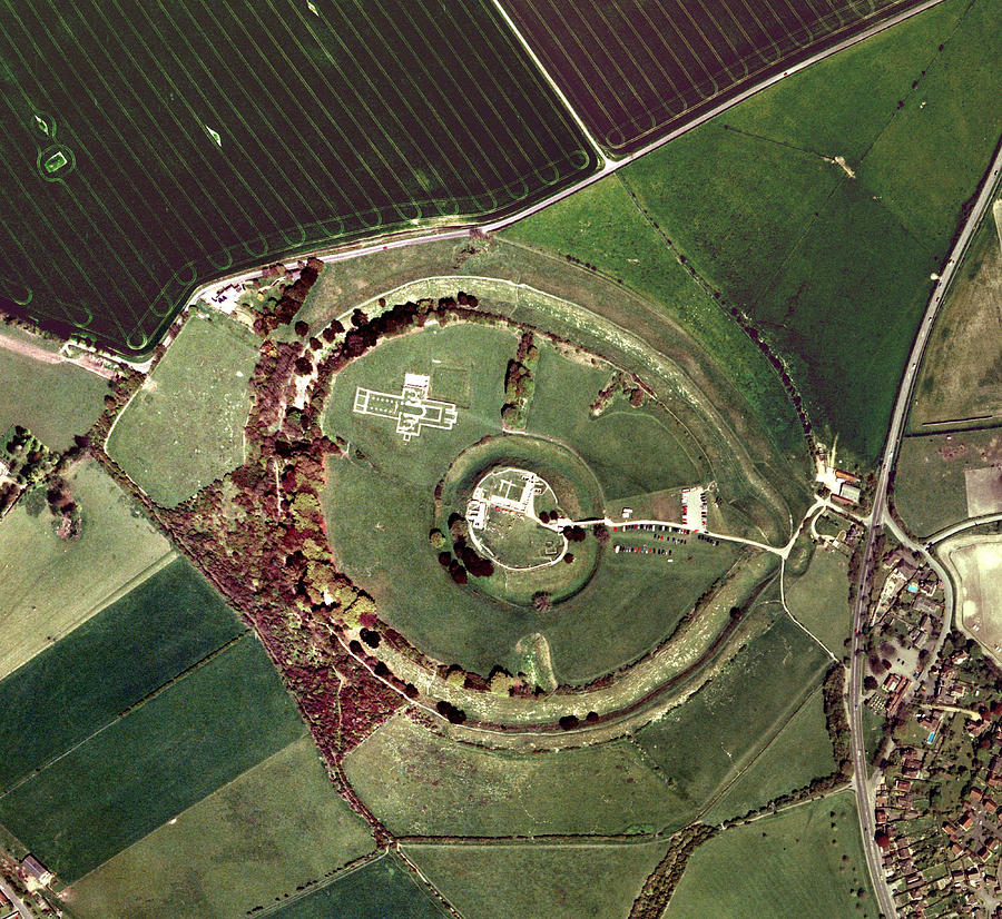 Old Sarum Photograph - Old Sarum by Getmapping Plc