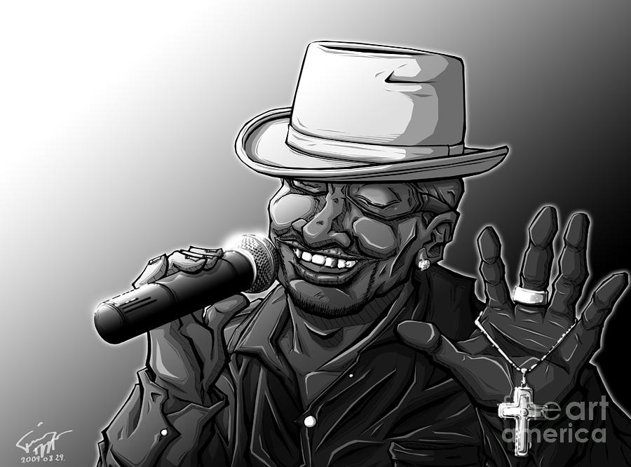 Tuan Drawing - Old School Brother by Tuan HollaBack