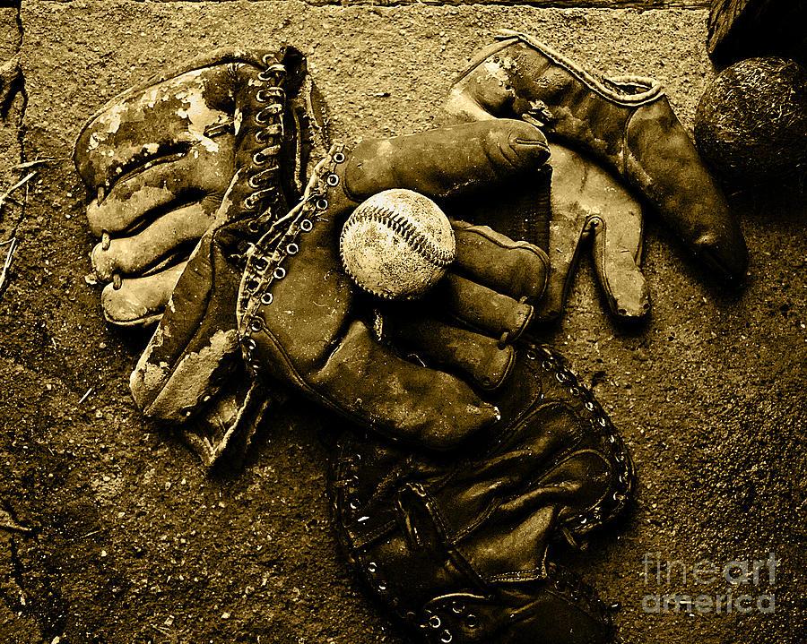 Baseball Photograph - Old School Dreams by Gib Martinez