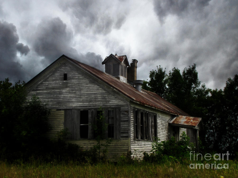 Old Photograph - Old School House by Ms Judi