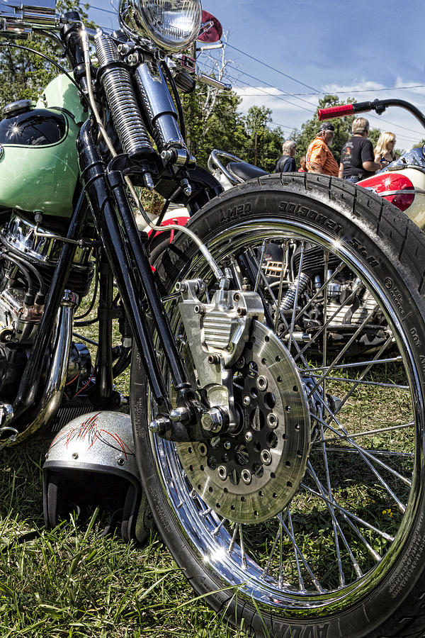 Harley Davidson Photograph - Old School by Peter Chilelli