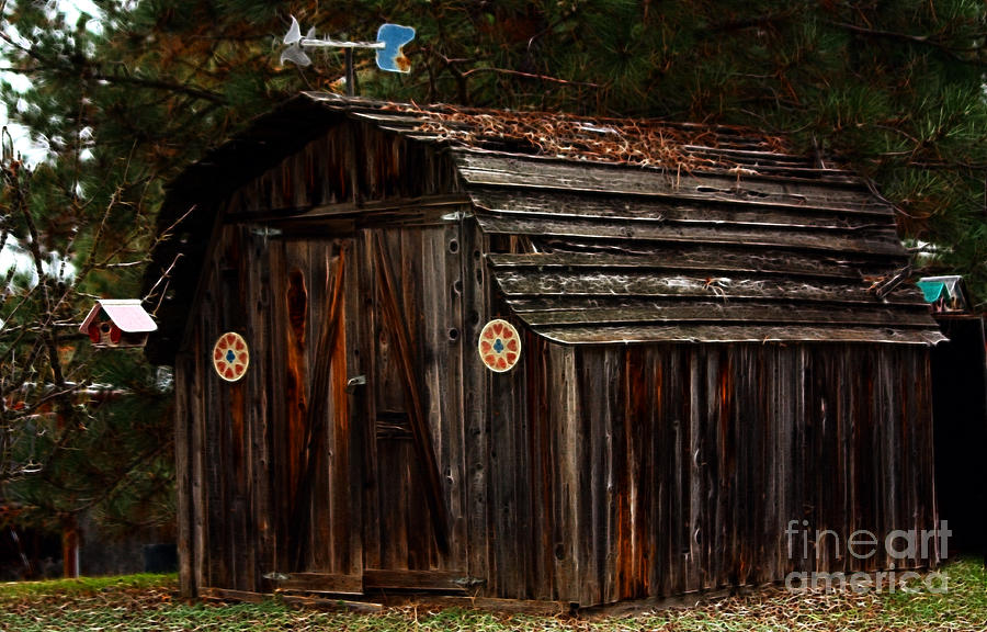 Shed Photograph - Old Shed Oakhurst by Marjorie Imbeau