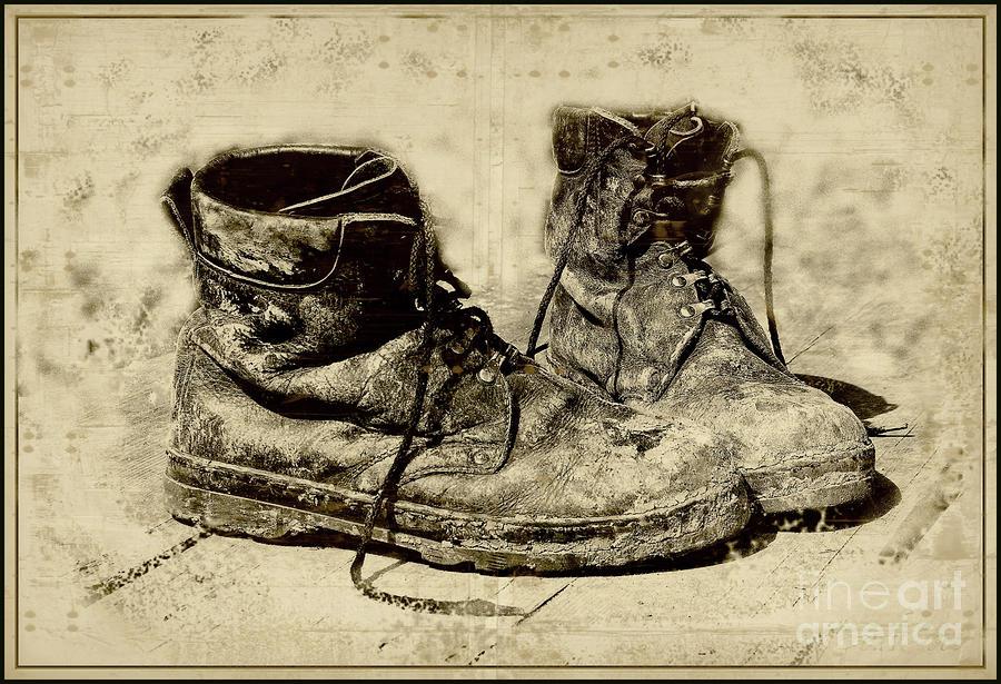 Shoes Photograph - Old shoes by Vladimiras Nikonovas