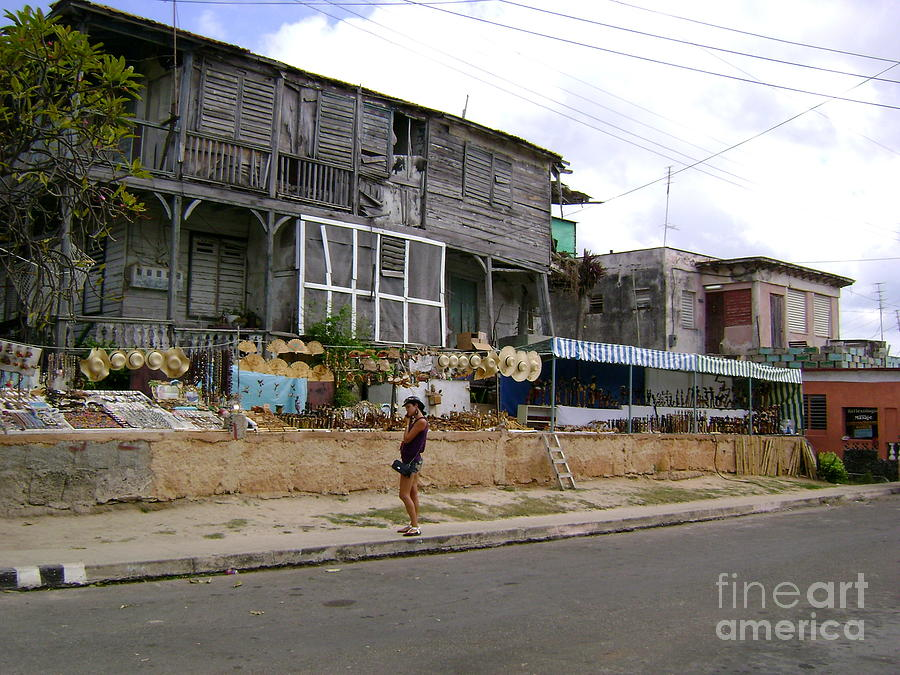 Architecture Photograph - Old Shop In Varadero Cuba by Laurel Fredericks