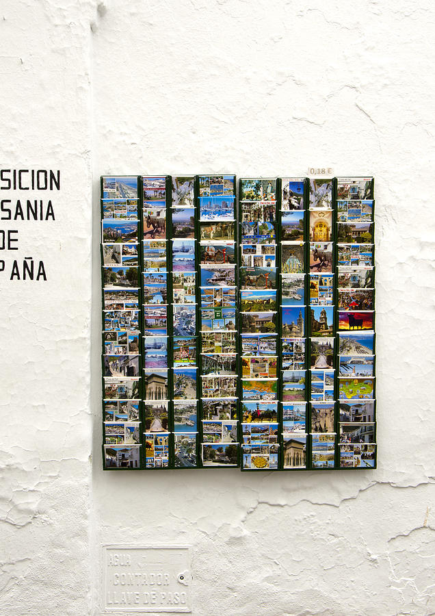 Andalusia Photograph - Old Spanish Postcards In Spanish Village by Perry Van Munster