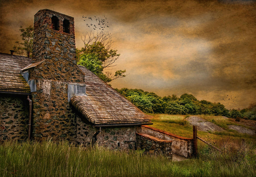 Antiquity Photograph - Old Stone Countryside by Robin-Lee Vieira
