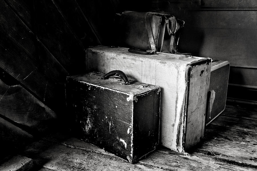 Old Suitcases Part - 34: Old Suitcases Photograph - Old Suitcases By Charrie Shockey
