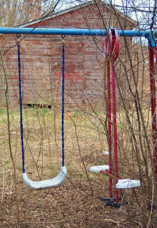 Old Swing Set Photograph - Old Swing Set-2 by Todd Sherlock