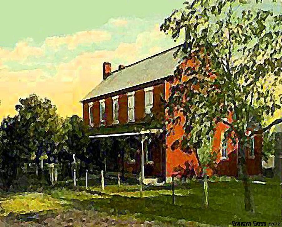 Taverns Painting - Old Tavern In Scenery Hill Pa by Dwight Goss