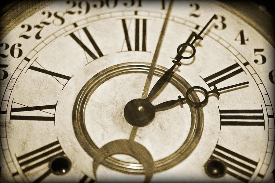 Clock Photograph - Old Time by Susan Leggett