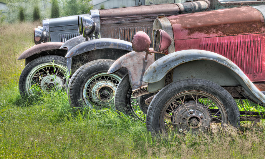 Old Cars Photograph - Old Timers by Naman Imagery