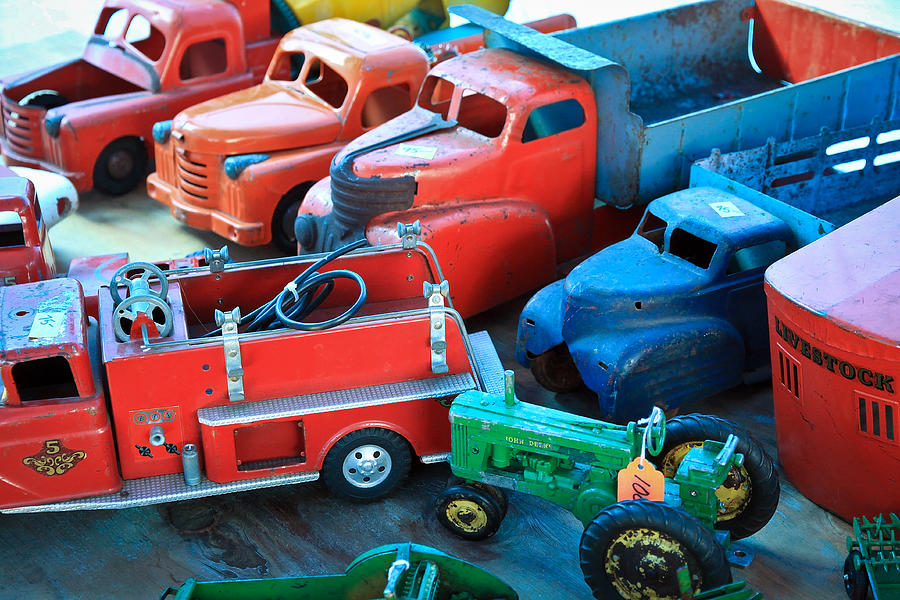 Ford Truck Photograph - Old Tin Toys by Steve McKinzie