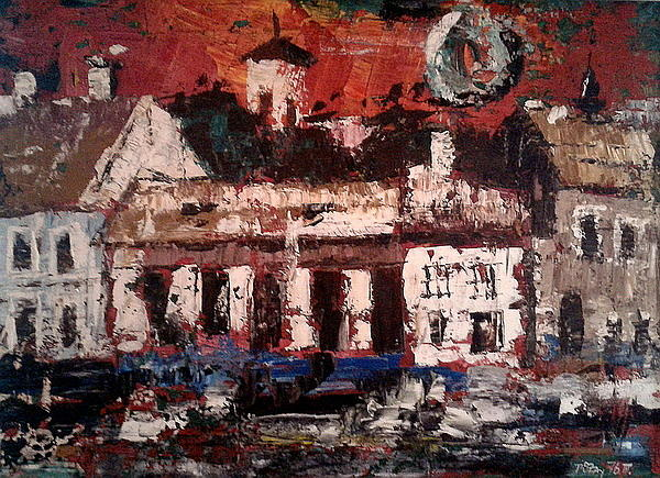 Street Scape Painting - Old Town by Joe Tiszai