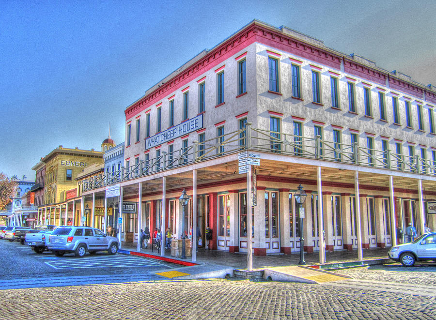 Street Corner Photograph - Old Towne Sacramento by Barry Jones