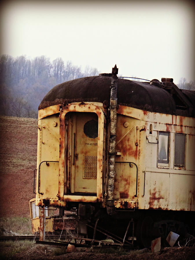 Railroad Photograph - Old Train Car by Brenda Conrad