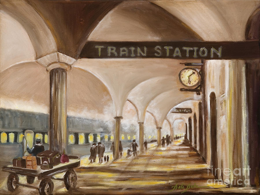 Old Train Station Painting by Pati Pelz