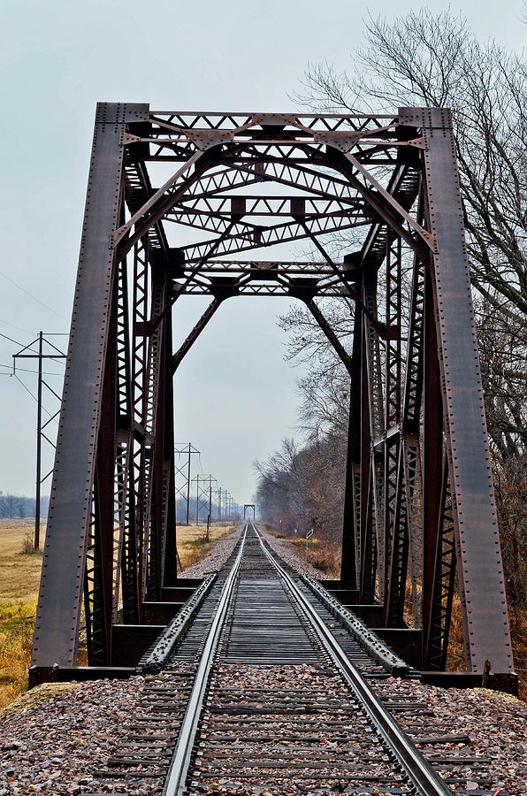 Old Photograph - Old Train Trelllis by Brenda Becker