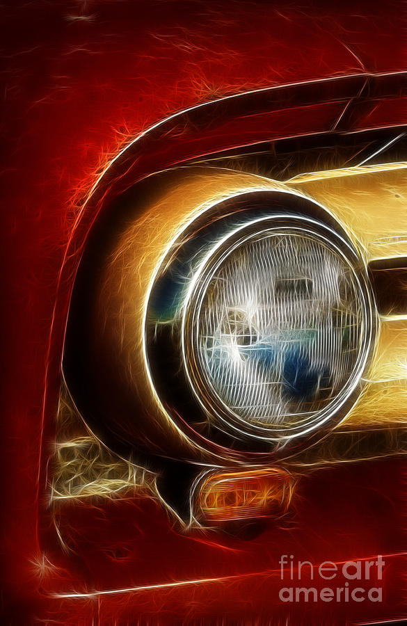Truck Photograph - Old Truck Headlight by Darleen Stry