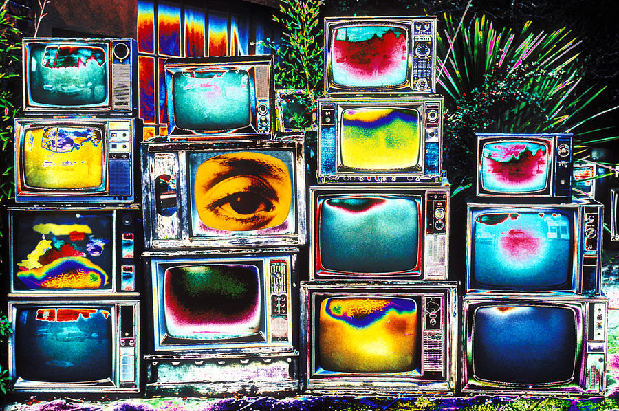 Television Photograph - Old Tvs Abstract by Garry Gay