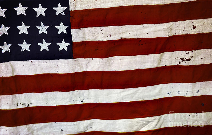 4th Photograph - Old Usa Flag by Carlos Caetano