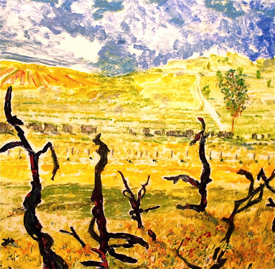 Old Vine Zin 2 Painting by Anthony George