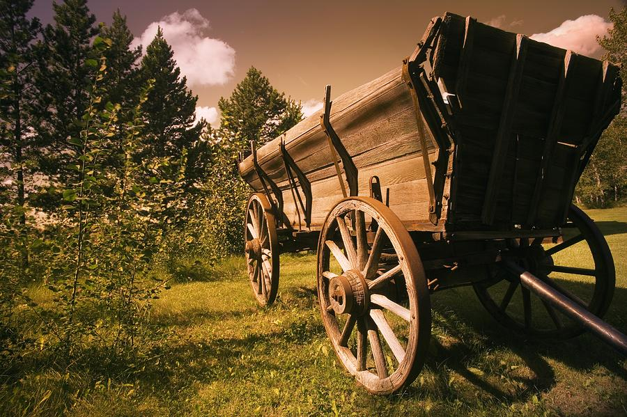 Country Photograph - Old Wagon by Darren Greenwood