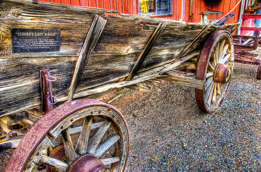Wagon Photograph - Old Wagon by Jon Berghoff