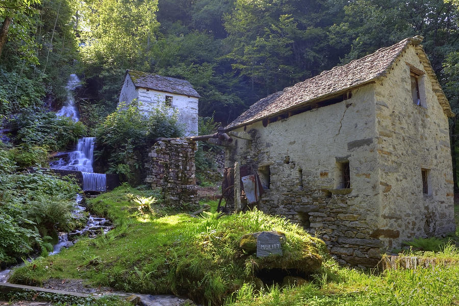 Moghegno Photograph - Old Watermill by Joana Kruse