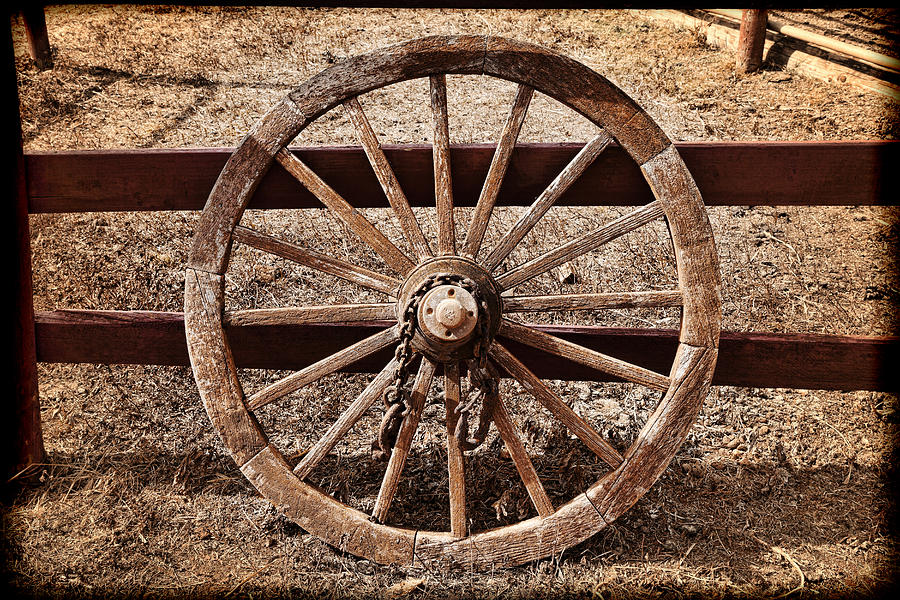 Old West Wheel Photograph by Kelley King