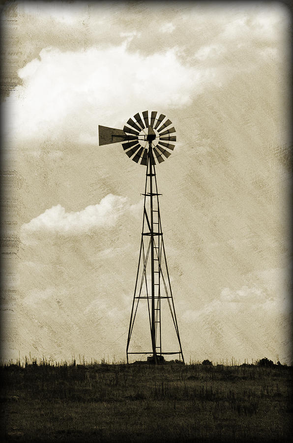 Agriculture Photograph - Old Windmill I by Ricky Barnard