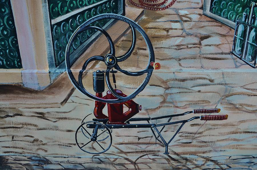 Painting Photograph - Old Wine Pump by Dany Lison