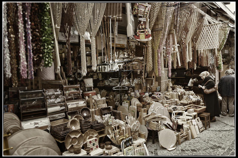 Istanbul Photograph - Old World Market by Joan Carroll