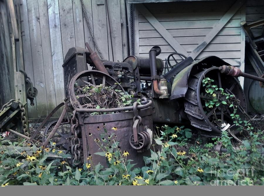 Tractor Photograph - Older Days by Janice Spivey
