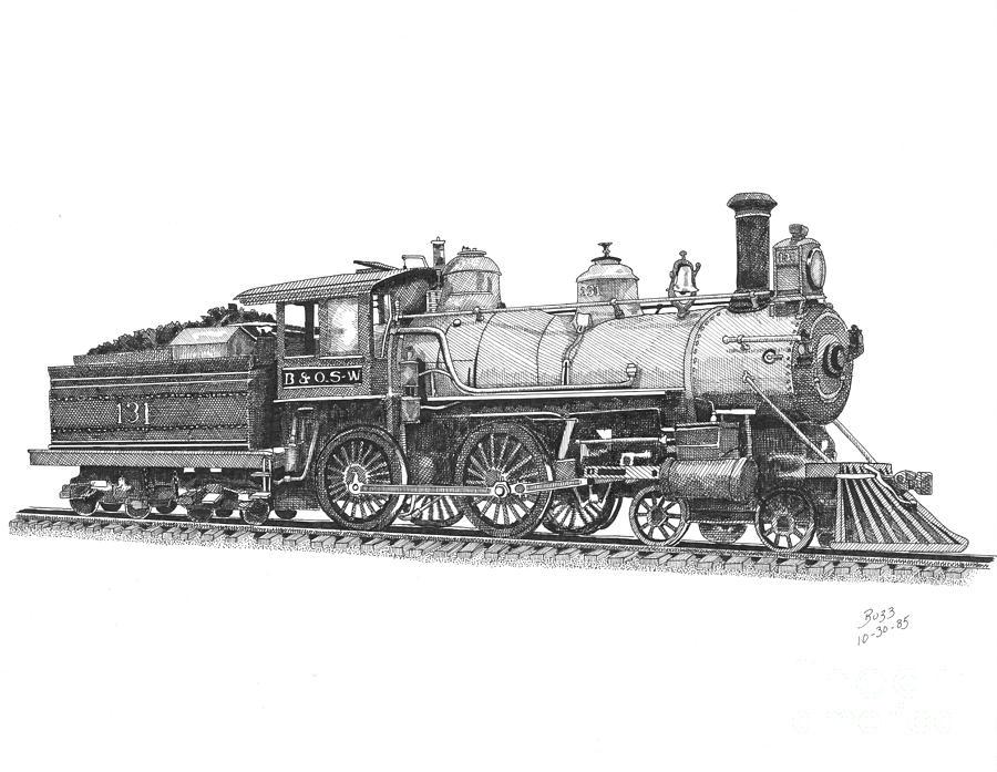 Older Steam Locomotive Drawing by Calvert Koerber