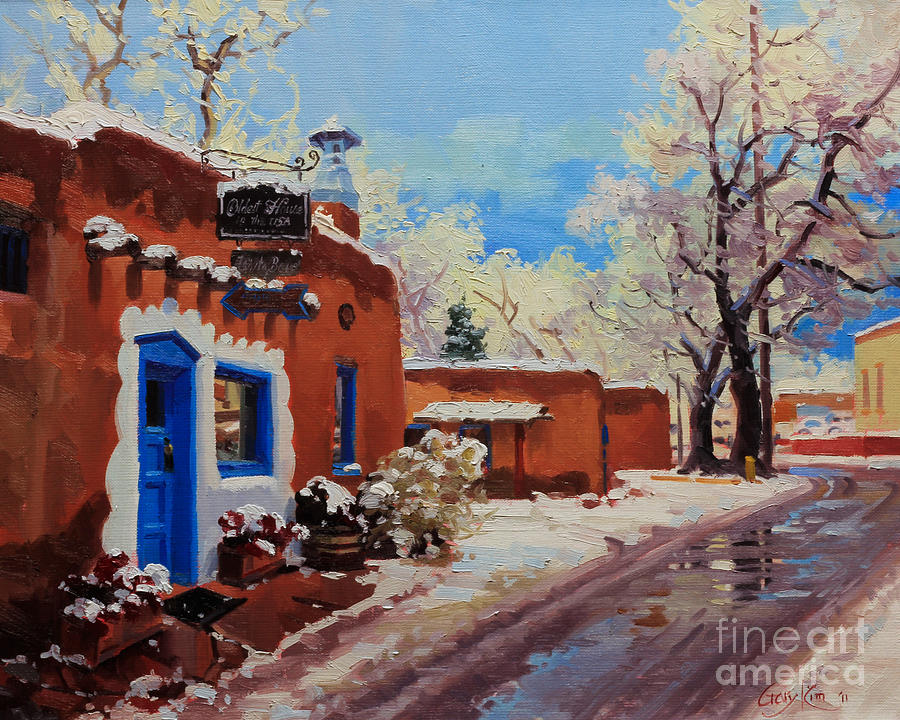 Oldest Adobe House Painting By Gary Kim