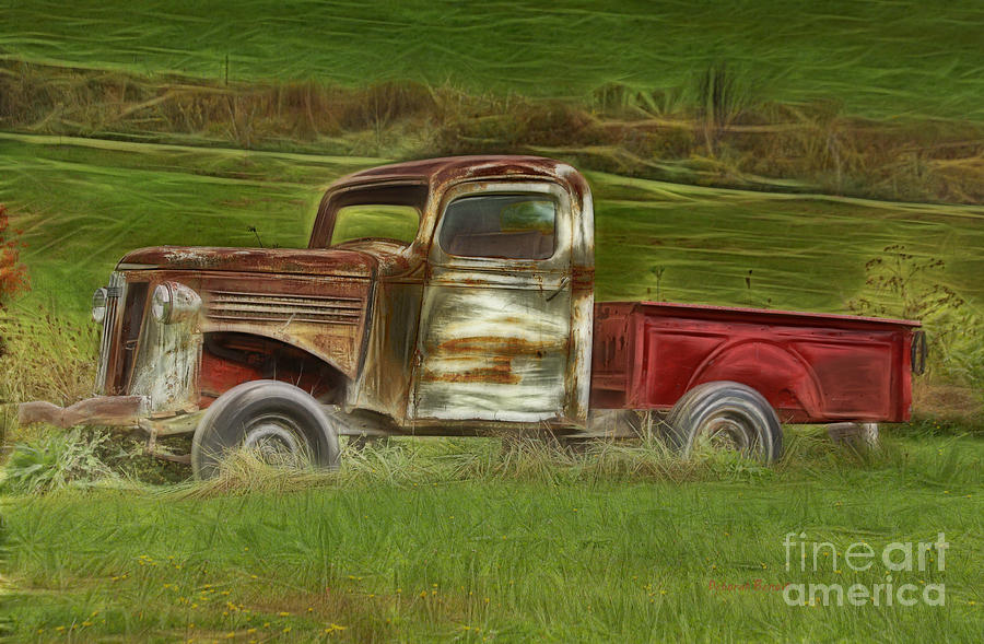 Old Truck Photograph - Oldie But Goodie by Deborah Benoit