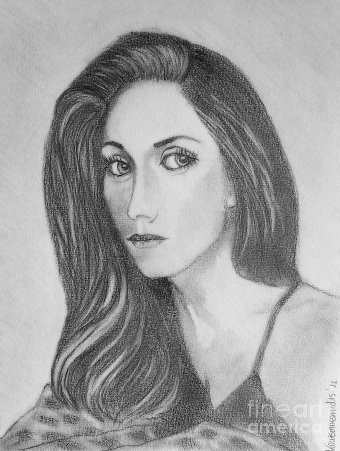 Portrait Painting - Olga by Kostas Koutsoukanidis