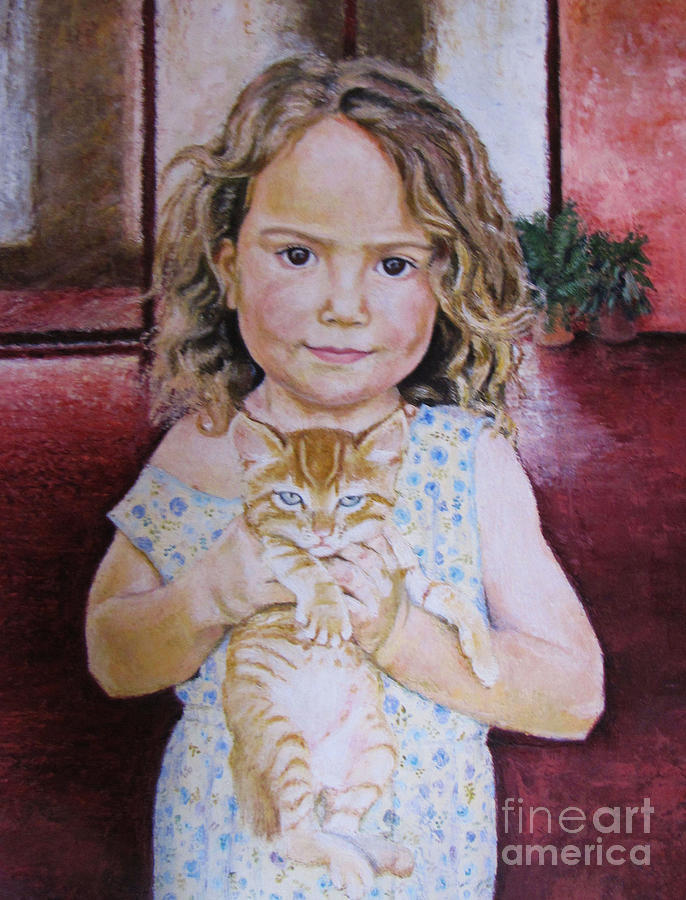 Painting - Oli And Baby Jellical by Judith Zur