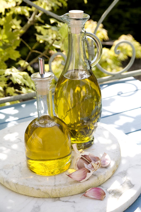 Chopping Board Photograph - Olive Oil by Erika Craddock