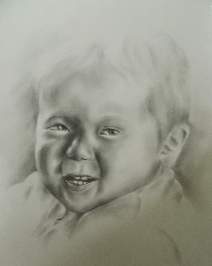 Portrait For A Friend  Drawing - Oliver by Lauren Brown